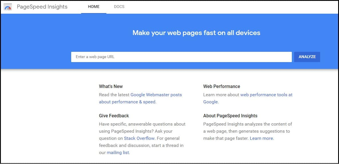 Google PageSpeed Insights to measure the performance of your sight.