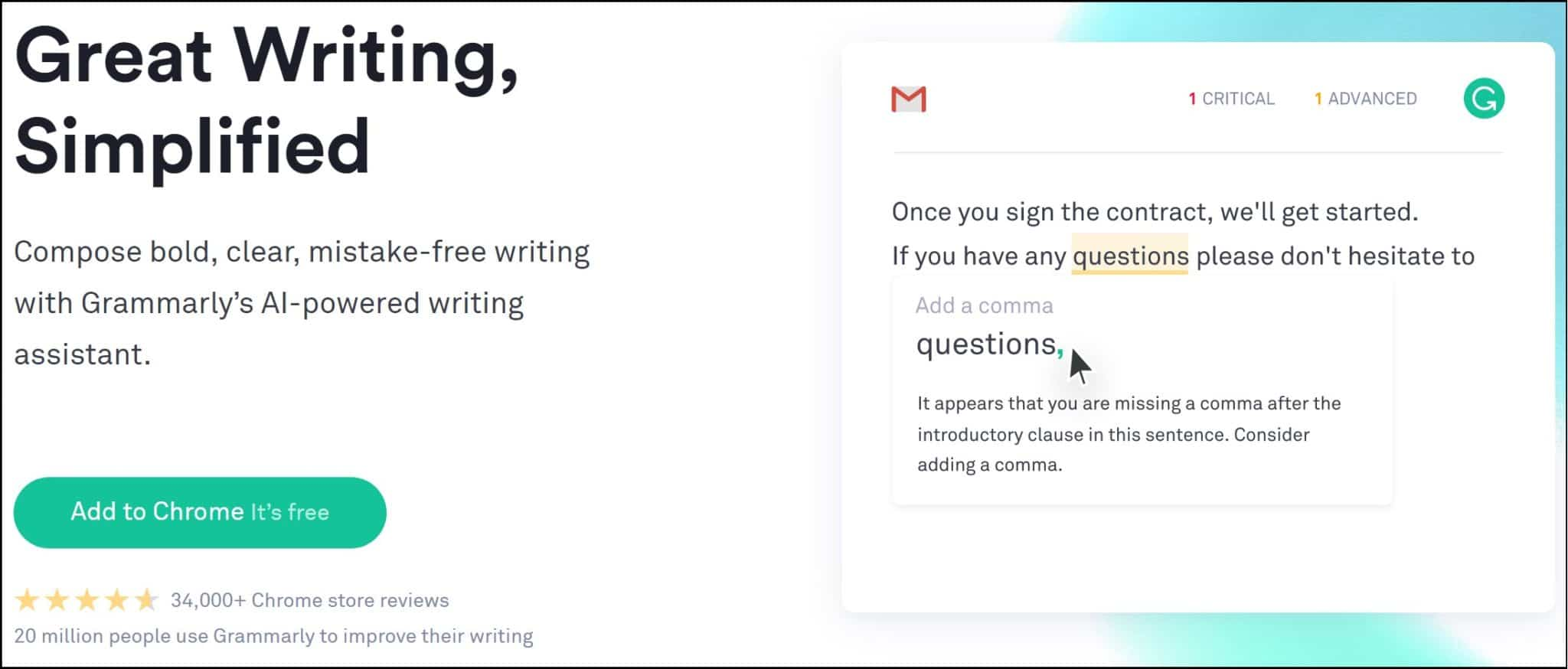 Add Grammarly Chrome extension