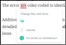 Grammarly Proofreading in Action