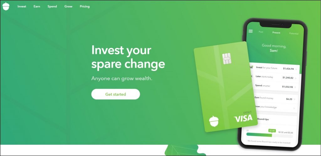 Acorns - A passive income app for investing your spare change.