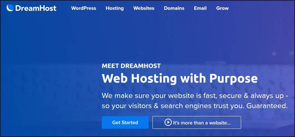 DreamHost Web Hosting Site