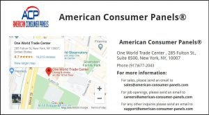 American Consumer Panels Contact Us Page