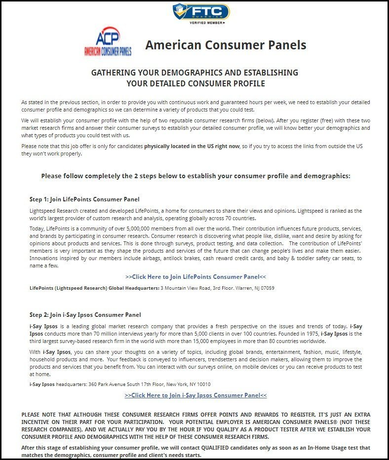 American Consumer Panels Next Steps