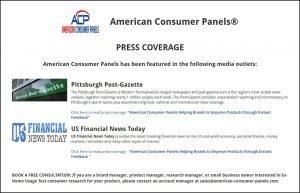 American Consumer Panels Press Coverage