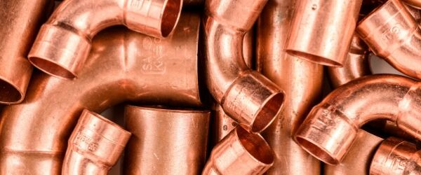 Copper pipe fittings - a common item to bring to the scrap yard