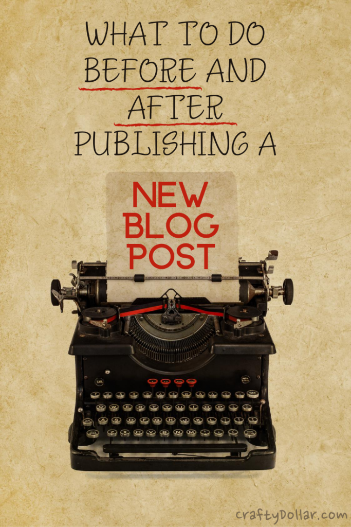 What to do before and after publishing a new blog post.