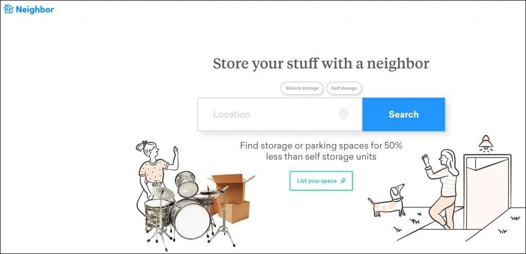 Neighbor storage app